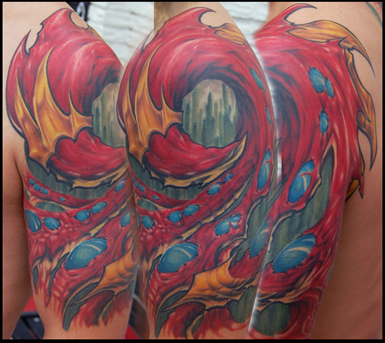 The world 39 s best photos by gwooki tattoos flickr hive mind for Houston texans tattoo