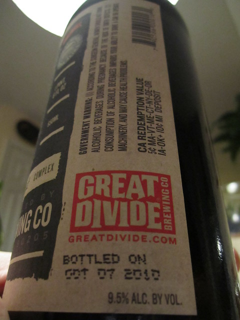 5590343402 604a79e739 z Notes   Great Divide Oak Aged Yeti Imperial Stout