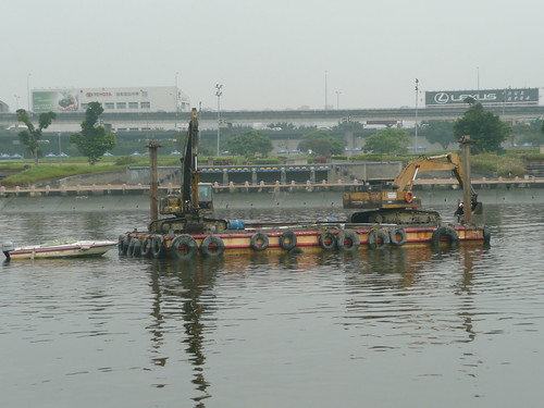 Barge in the River
