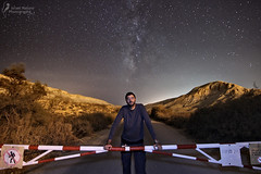 Star Road closed, sorry! (Israel Nature Photography by Ary) Tags: canon apsc desert israel nature night stars tokina 1116mm yongnuo speedlight negev portrait self long exposure