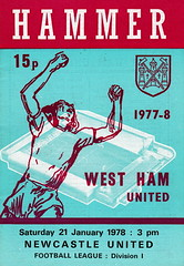 West Ham United vs Newcastle United - 1978 - Cover Page (The Sky Strikers) Tags: west ham united newcastle upton park football league division one hammer 15p official programme