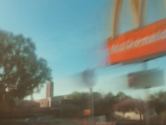12/16 (nikaylasnyder) Tags: motion blur long exposure swirl landscape trees homes houses mcdonalds blue skies fall autumn filter