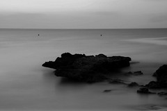 Mediterranean long exposure B&W (terry@sevensixty images) Tags: sea mediterranean rock blackandwhite bw monochrome longexposure seascape canon760d horizon 10stopfilter