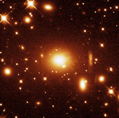 Hubble Space Telescope image of the PKS 0745-191 galaxy cluster