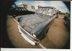 Anglia (Sam Tait) Tags: camera wood slr ford film race 35mm nikon kevin steve mm milton 35 prep anglia 105e dray f55
