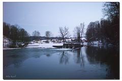 Am Loisach-Wehr in Beuerberg (Helmut Reichelt) Tags: leica winter germany deutschland bavaria oberbayern landschaft spiegelung m9 loisach beuerberg elmaritf28mm