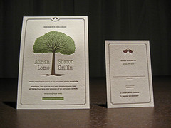 West Hills Letterpress Wedding Set