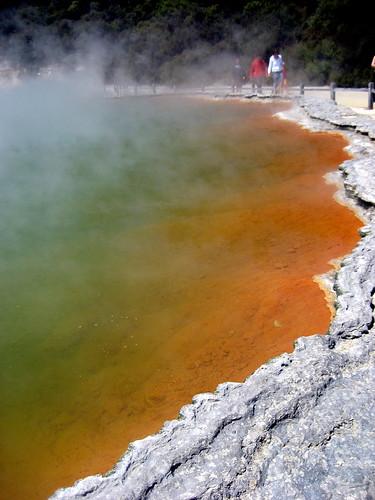 Champagne Pool at Wai-O-Tapu Thermal Wonderland, Taupo Volcanic Zone, North Island, New Zealand