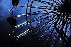 Dusk delight (Clever Poet) Tags: light wheel dusk south parking lot carousel fair ferris carolina gilbert hdr