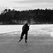 A windy day on the ice
