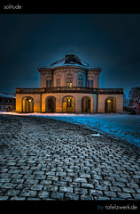 solitude (Tafelzwerk) Tags: castle night photoshop dark nikon solitude darkness stuttgart nacht bblingen bluehour schloss dri hdr leonberg hdri topaz blauestunde gerlingen schlosssolitude d3000 nikond3000 tafelzwerk tafelzwerkde