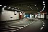 tunnel (polomar) Tags: street leica light dark licht flickr stripes strasse cologne tunnel autobahn köln console unten mediapark dunkel streifen ringe lampen m9 parkhaus durchfahrt hereyes polomar