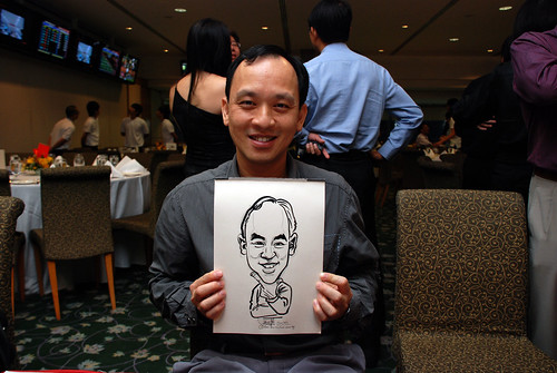 caricature live sketching for Thorn Business Associates Appreciate Night 2011 - 12
