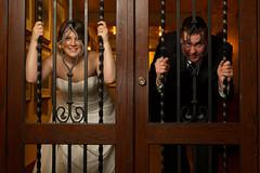 Locked Into Marriage (DavinG.) Tags: wedding portrait canada adam canon rockies photography hotel flash davin alberta springs 7d banff tamron fairmont luxurious macrae elope 2875mm 430ex fairmontbanffsprings strobist gegolick daving eos7d amberliegh