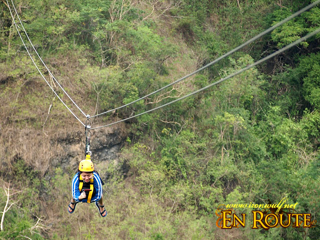 the 380m Superman Zipline 1