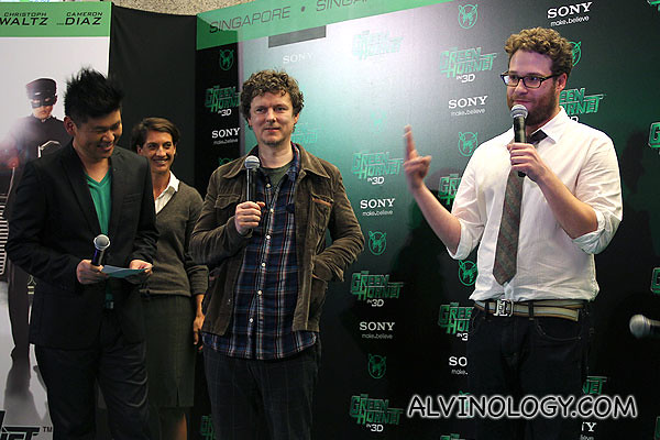 Michel Gondry and Seth Rogen appeared on stage first and started joking with the audience