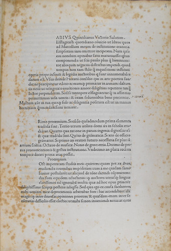 Manuscript correction in Quintilianus, Marcus Fabius: Institutiones oratoriae