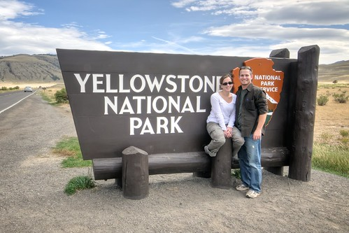 Stef & Jeff at Yellowstone National Park