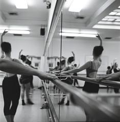 (t.coray) Tags: ballet reflection film college mirror dancers arts v r 25 cornish rolleicord efke