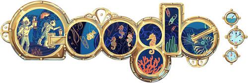 Google Jules Verne Logo