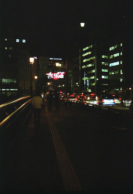 街の道路のフリー写真素材