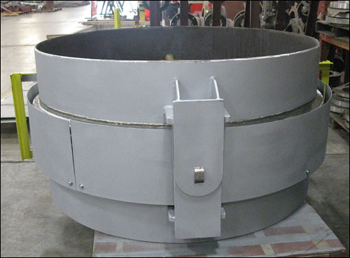 "66"" Hinged Expansion Joint Designed for Gas Service in a Sulphuric Acid Plant"