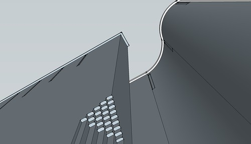 St Bride's SketchUp - detailing on west elevation (2 of 3)