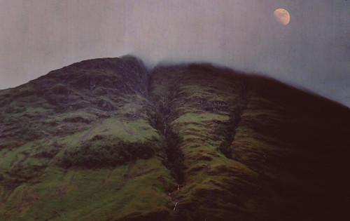 フリー写真素材, 自然・風景, 山, 月,
