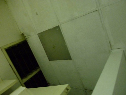 5b. The light above the toilet cubicle has blown.