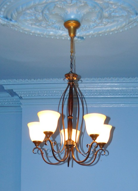 old living room chandelier