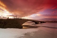 The old bridge over Héraðsvötn (jonrrr) Tags: iceland ísland sjór bátur skagafjörður fiskur brú torfbær