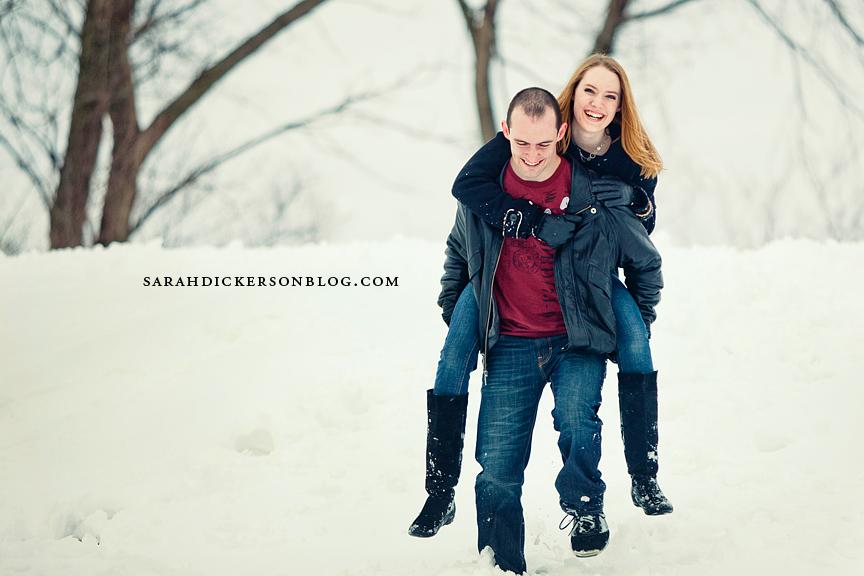 Shawnee Mission Park Kansas engagement photos