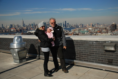 Hannah, Stella, Dad, in Brooklyn