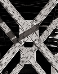 XX (booksin) Tags: sanfrancisco california bridge bw white black monochrome arquitectura industrial geometry steel engineering structure infrastructure architektur gomtrie architettura achitecture geometria geometrie oaklandbaybridge geometra booksin copyrightbybooksinallrightsreserved