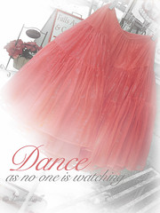 Dance as no one is watching (LindaLyell) Tags: red vintage dance antique feminine romance muse textures quotes boutique tutu tutus kimklassenstextures