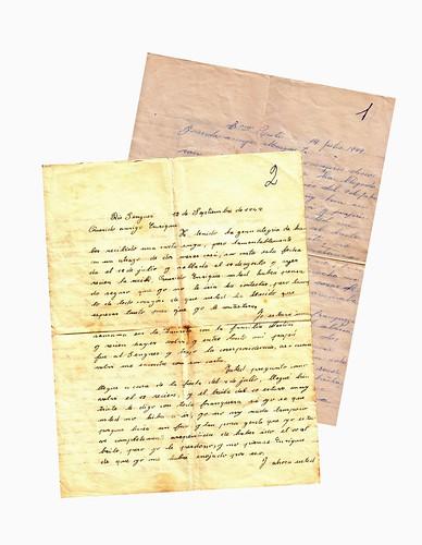 cartas de amor originales. cartas de amor de mis padres