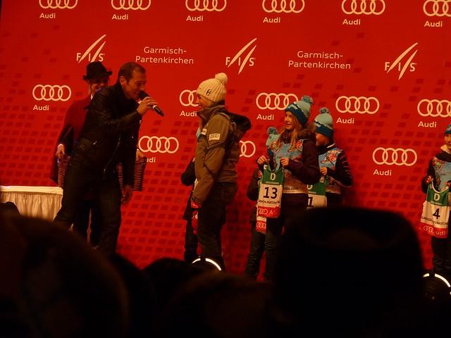 Lara Gut bei der Nummernauslosung, Frauen - Ski-WM, Tag 6