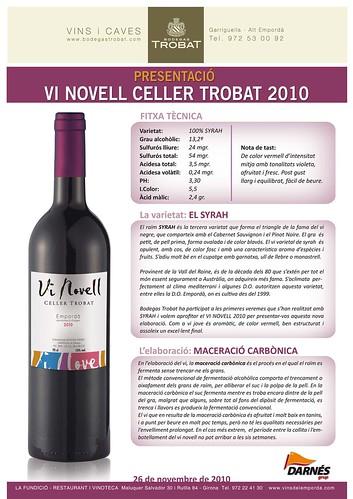 El vi novell 2010 de Trobat