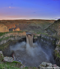 Palouse Falls Vertorama - High Waters (Coop Photography) Tags: sunset moon water river flow photography waterfall washington high nikon flood january canyon falls hills filter level nd wa 17 coop washtucna 06 density palouse neutral 2011 d90 vertorama