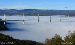 Viaduc de Millau (Domi Rolland ) Tags: france architecture canon europe ciel pont nuage millau aveyron midipyrénées viaducdemillau g9