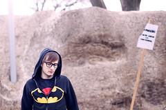 Piles of Melting Snow (337/365) (Joshua Uhl) Tags: light portrait art self canon eos 50mm student shadows unitedstates natural joshua f14 creative minneapolis josh 7d mn mcad uhl 2011