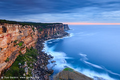 North Head at Dawn, Sydney Harbour National Park, Sydney, NSW, Australia (ILYA GENKIN / GENKIN.ORG) Tags: ocean above park morning travel sunset sea cliff beach nature water rock night clouds sunrise landscape dawn evening coast nationalpark seaside twilight marine surf view harbour dusk head tide north shoreline sydney australian scenic wave australia scene lookout clean coastal national shore nsw beaches newsouthwales cape waters coastline oceans overlook viewpoint seashore sydneyharbour northhead seacoast seas foreshore