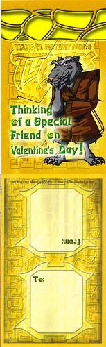 """Paper Magic Group :: """"Teenage Mutant Ninja Turtles"""" - Valentines; Splinter (( 2005 ))"""