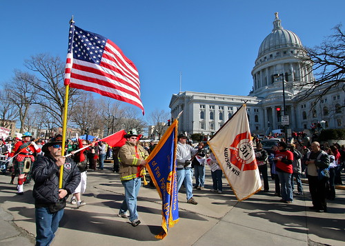 Protest Against Gov. Scott Walker