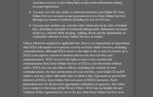 Sony Privacy Policy