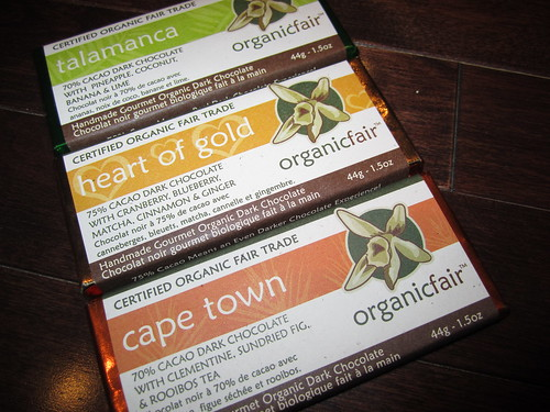 OrganicFair Chocolate Bars from Victoria