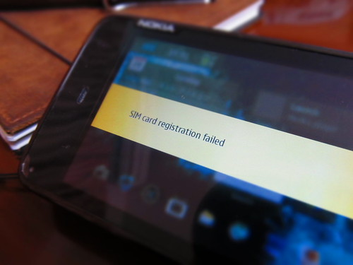 NOKIA N900 SIM card registration failed