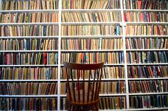 Brooklyn Art Library (JoelZimmer) Tags: nyc newyork brooklyn design chair library sketchbook bookshelf tokina williamsburg ultrawide shelves highlighted woodenchair explored sketchbookproject d7000 tokina1116mmf28 nikond7000 brooklynartlibrary