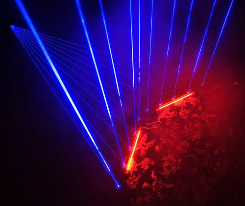 Blue Laser Harp Test