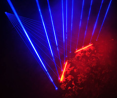 Blue Laser Harp Test (shobley) Tags: laser harp 1w 445nm